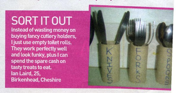 Would you keep your cutlery drawer next to the toilet? This crafty kook would!