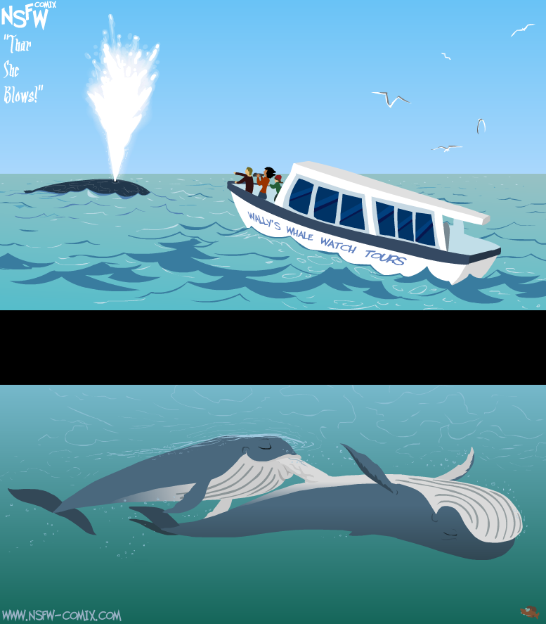 ~ HUMP DAY COMIX! ~ These are not humpback whales, though